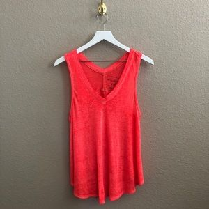 We The Free People v-neck burnout tank top